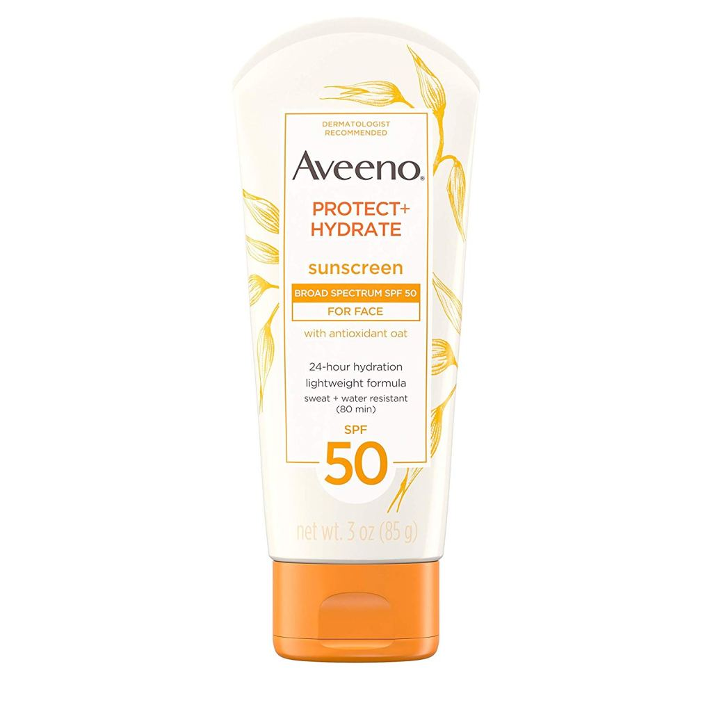 Aveeno Protect Hydrate Sunscreen Broad Spectrum SPF 50 for Face