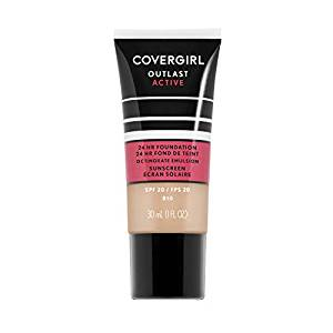 CoverGirl Outlast Active 24-Hour Foundation + Octinoxate Sunscreen Broad Spectrum SPF 20