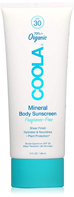 Coola Mineral Body Sunscreen Fragrance Free SPF 30