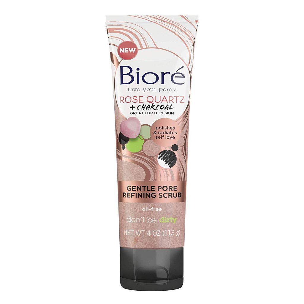 Biore Rose Quartz + Charcoal Gentle Pore Refining Scrub