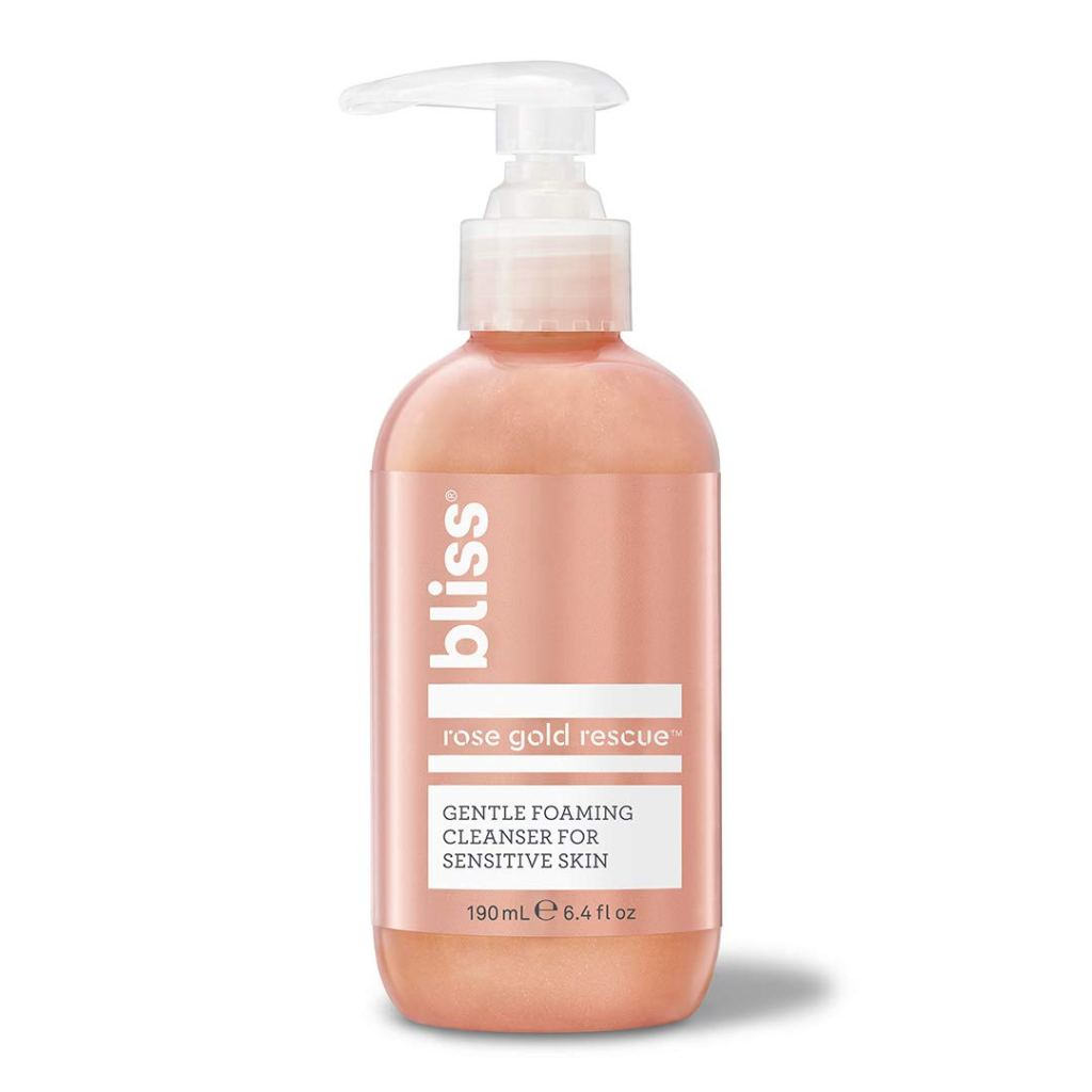 Bliss Rose Gold Rescue Gentle Foaming Cleanser for Sensitive Skin