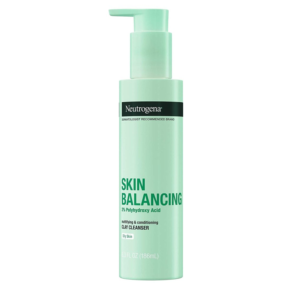 Neutrogena Skin Balancing Clay Cleanser 2% Polyhydroxy Acid for Oily Skin