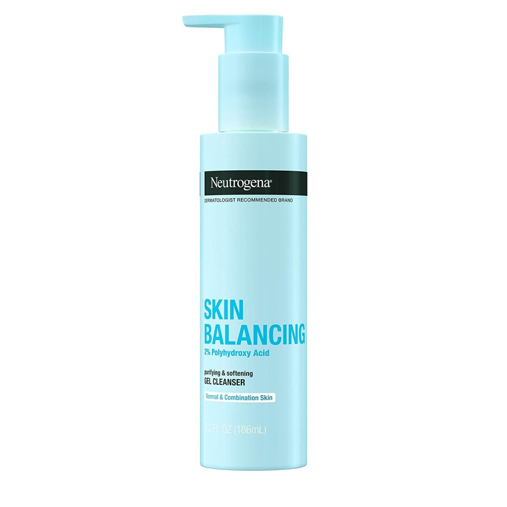 Neutrogena Skin Balancing Gel Cleanser 2% Polyhydroxy Acid for Combination Skin