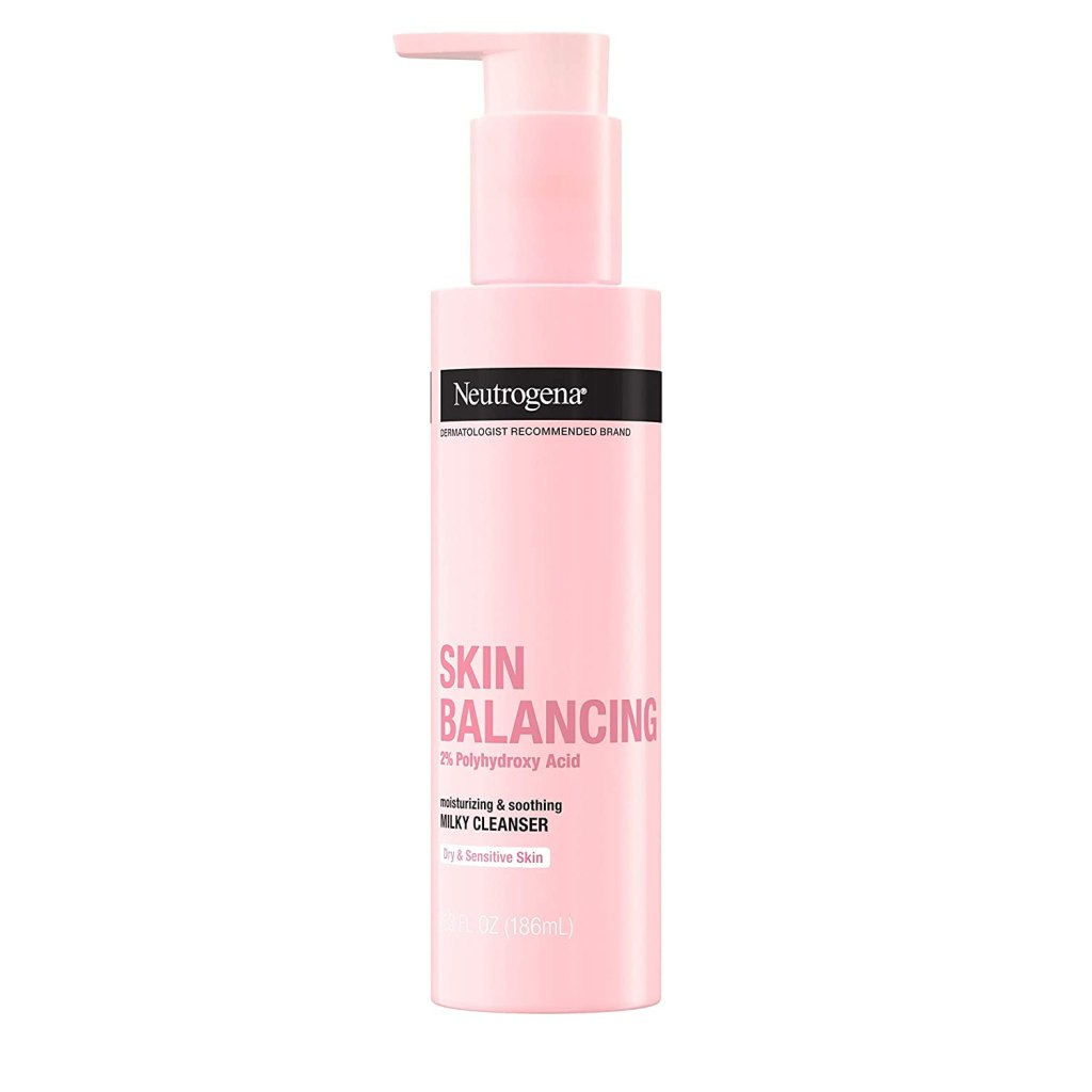 Neutrogena Skin Balancing Milky Cleanser 2% Polyhydroxy Acid for Dry Skin